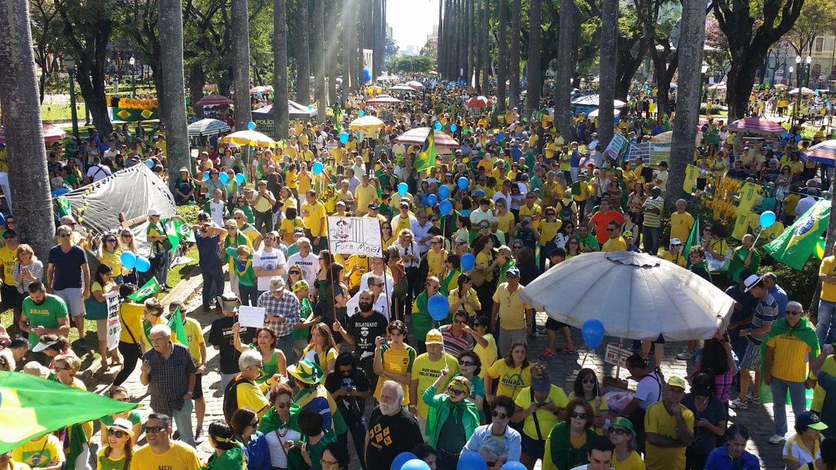 Protesto em Belo Horizonte neste domingo -Foto: Reprodução/Twitter
