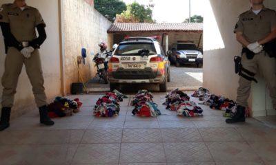 Ladrão de calcinhas usava um dos modelos quando foi preso - Foto: Polícia Militar / Divulgação