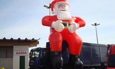 Procura-se Papai Noel de oito metros de altura furtado em Nova Lima - Foto: Reprodução/Instagram/Ypslonoficial