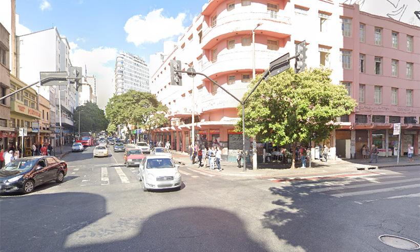 Feto é encontrado em lixeira no Centro de Belo Horizonte - Foto: Reprodução da internet/Google Maps