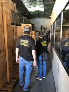 Força-tarefa apreende produção clandestina de álcool em gel em BH - Foto: Divulgação/SEF