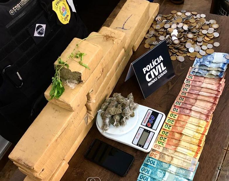 Polícia realiza operação contra o tráfico de drogas em Araxá - Foto: Divulgação/PCMG
