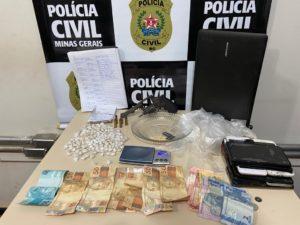 Operação contra o tráfico de drogas prende cinco pessoas em Curvelo
