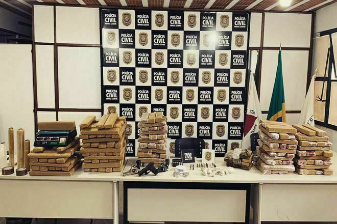 Polícia apreende cerca de 180 quilos de drogas em Juiz de Fora