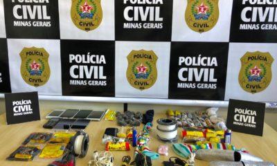 Polícia impede entrada de drogas e celulares em presídio de Poços de Caldas