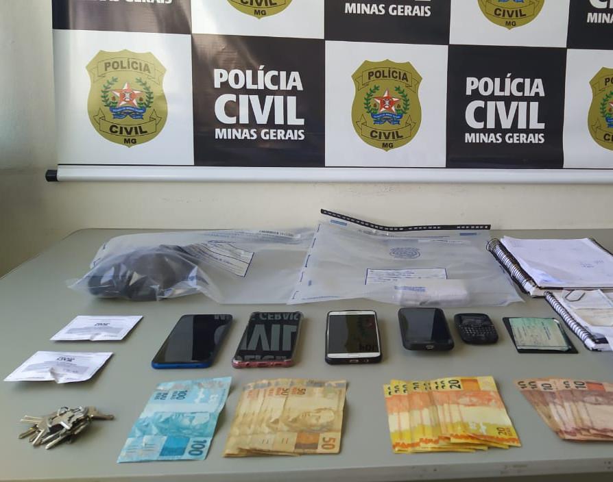 Polícia prende dois por tráfico e apreende cocaína em Andradas - Foto: Divulgação/PCMG