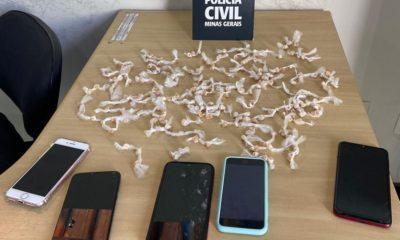 Trio é preso com mais de 200 pedras de crack em Vespasiano - Foto: Divulgação/Polícia Civil