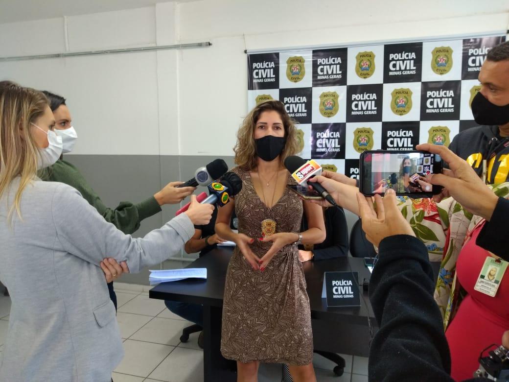 Delegada Adriana das Neves Rosa responsável pelo caso em entrevista - Foto: Divulgação/PCMG