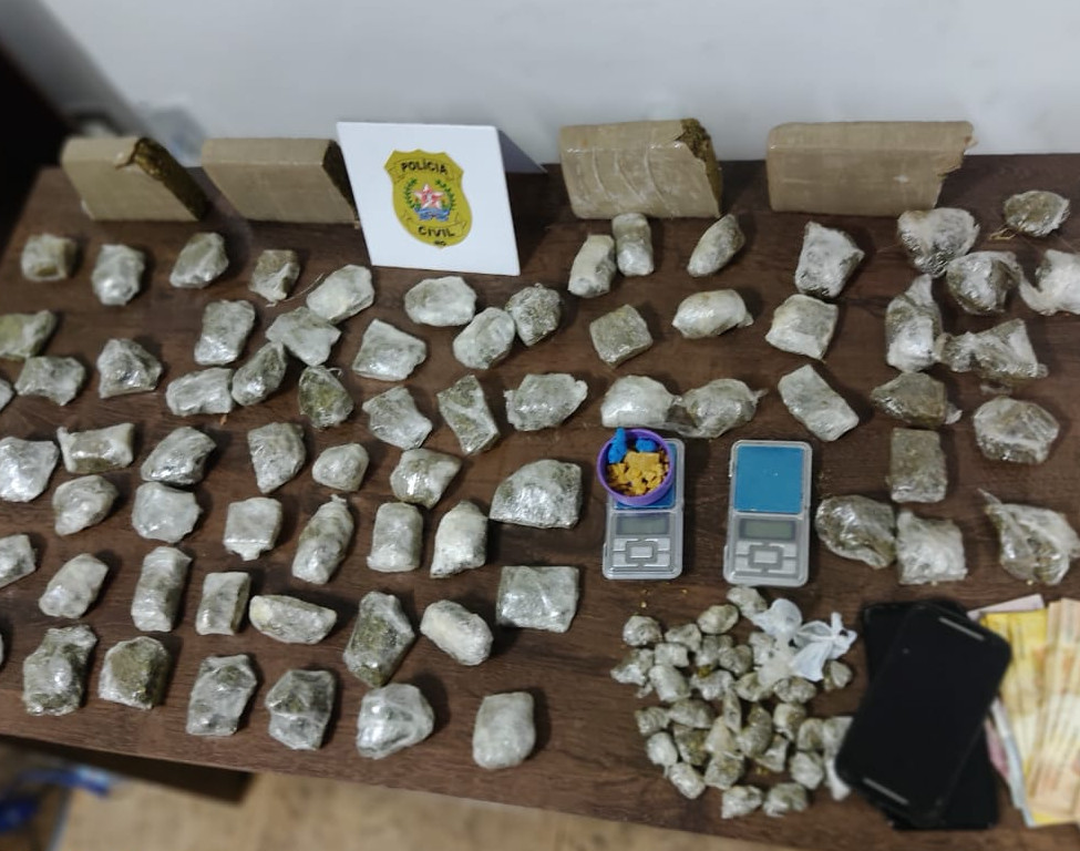 Homem é preso em flagrante por tráfico de drogas em Araxá - Foto: Divulgação/PCMG