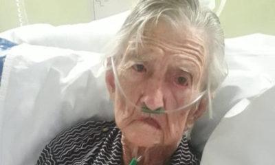 Carmélia Maria Calegari, aos 98 anos, se curou do covid-19 - Foto: Divulgação