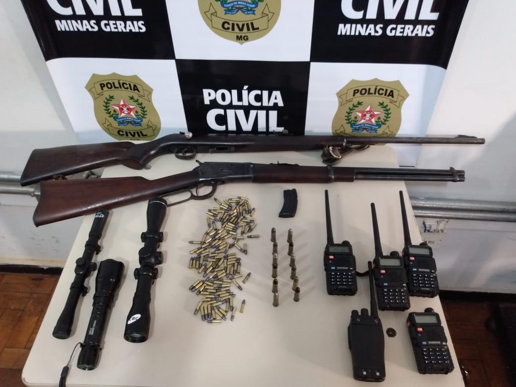 Polícia desarticula organização criminosa que atuava em Curvelo - Foto: Divulgação/PCMG
