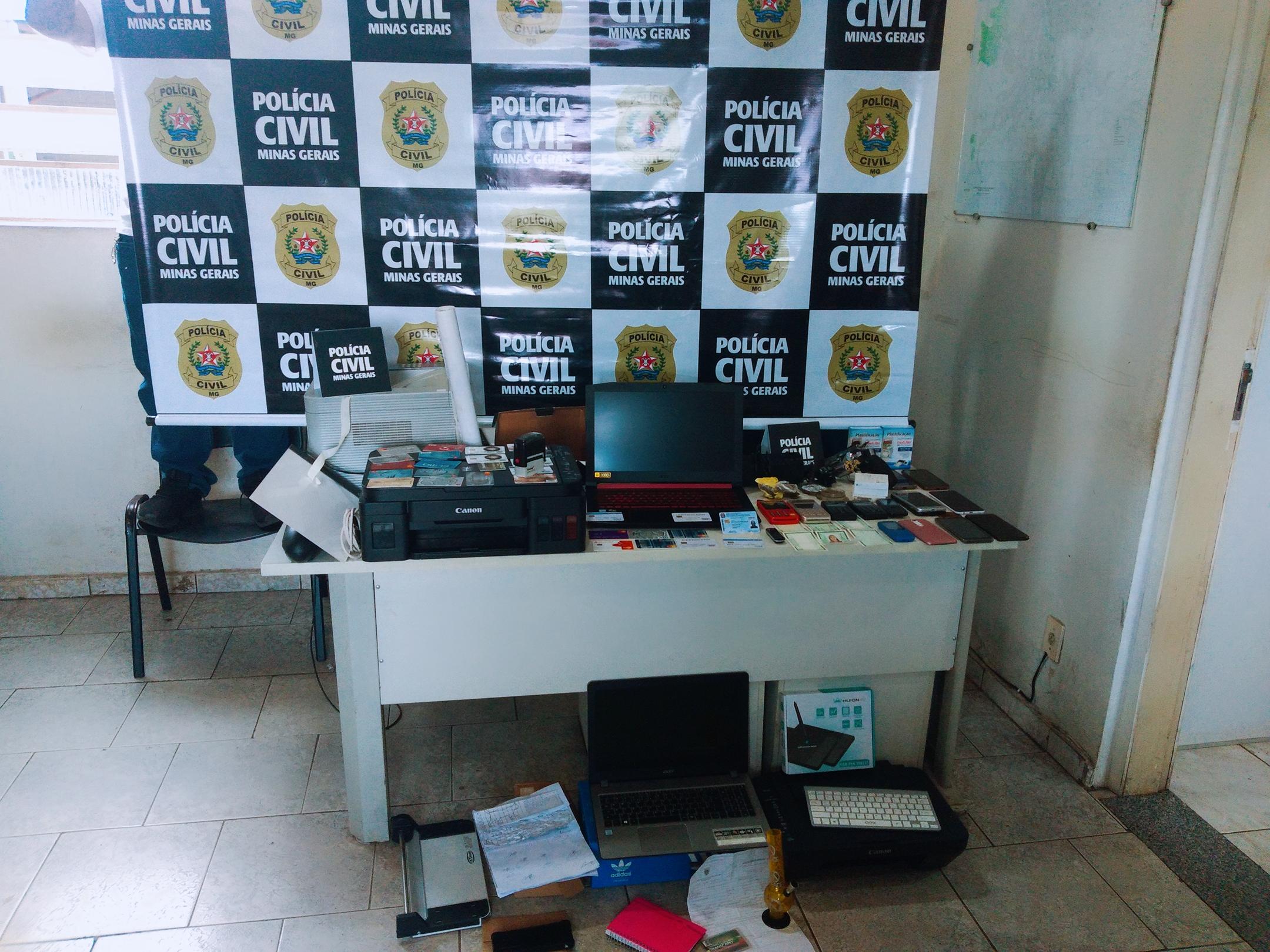 Seis pessoas são presos por falsificação de documentos em Sete Lagoas - Foto: Divulgação/PCMG