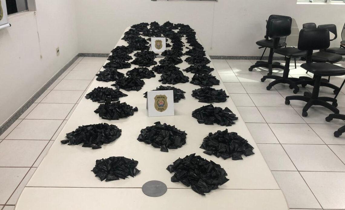 Polícia apreende grande quantidade de drogas em Alfenas - Foto: Divulgação/PCMG