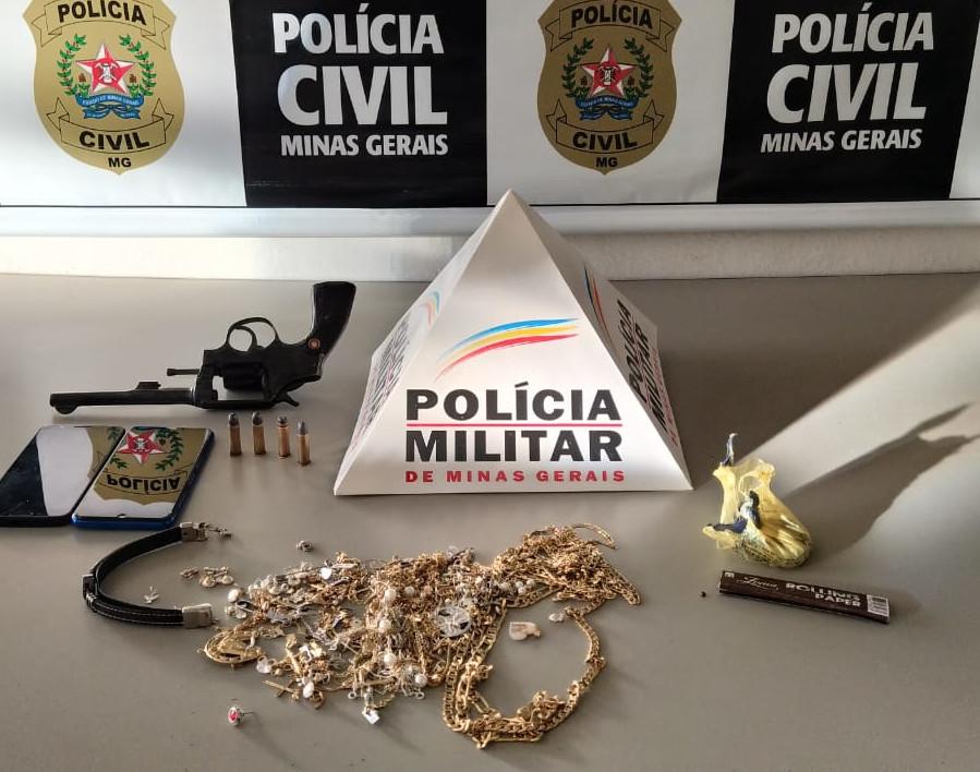 Polícia Civil prende suspeitos por roubo a joalheria em Andradas - Foto: Divulgação/PCMG