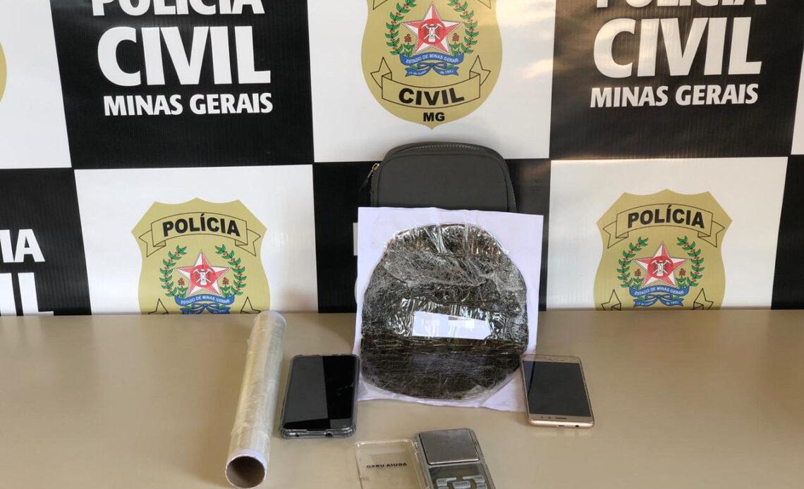 Polícia prende homem com haxixe em Divinópolis - Foto: Divulgação/Polícia Civil