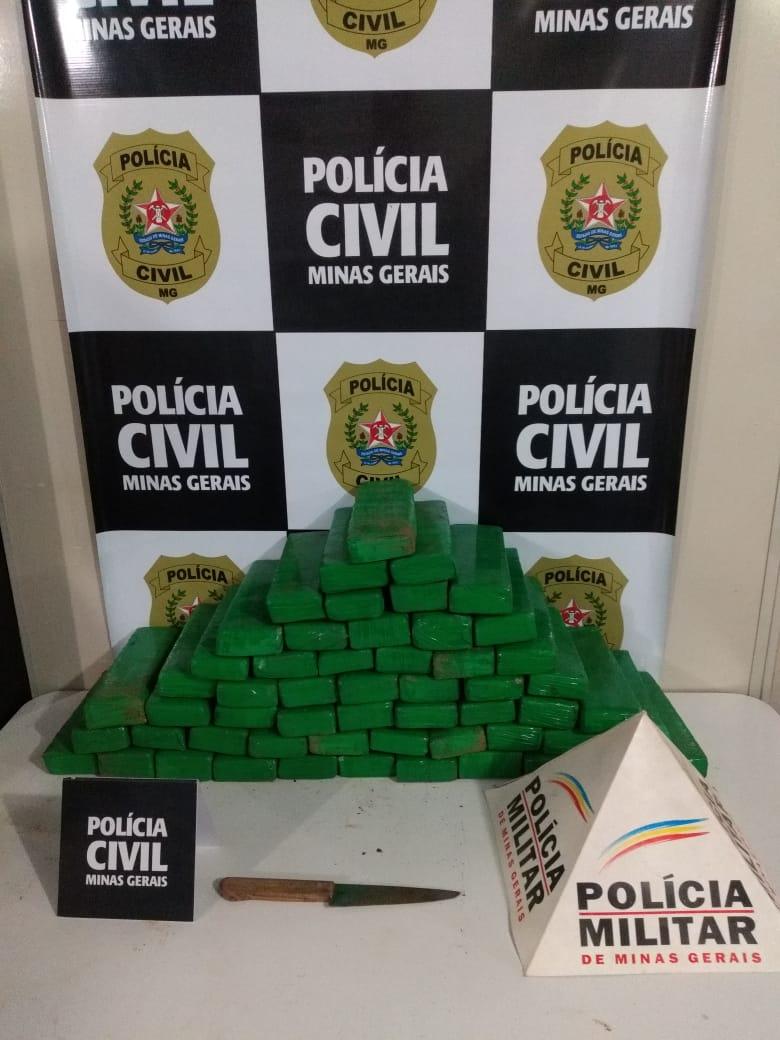 Polícia apreende grande quantidade de drogas em Itabirito - Foto: Divulgação/PCMG