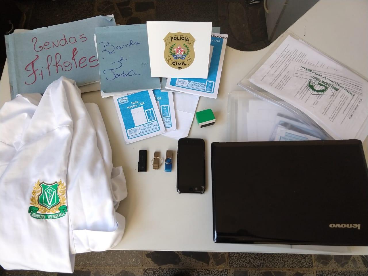 Polícia investiga atuação de falso médico veterinário em Pará de Minas - Foto: Divulgação/Polícia Civil