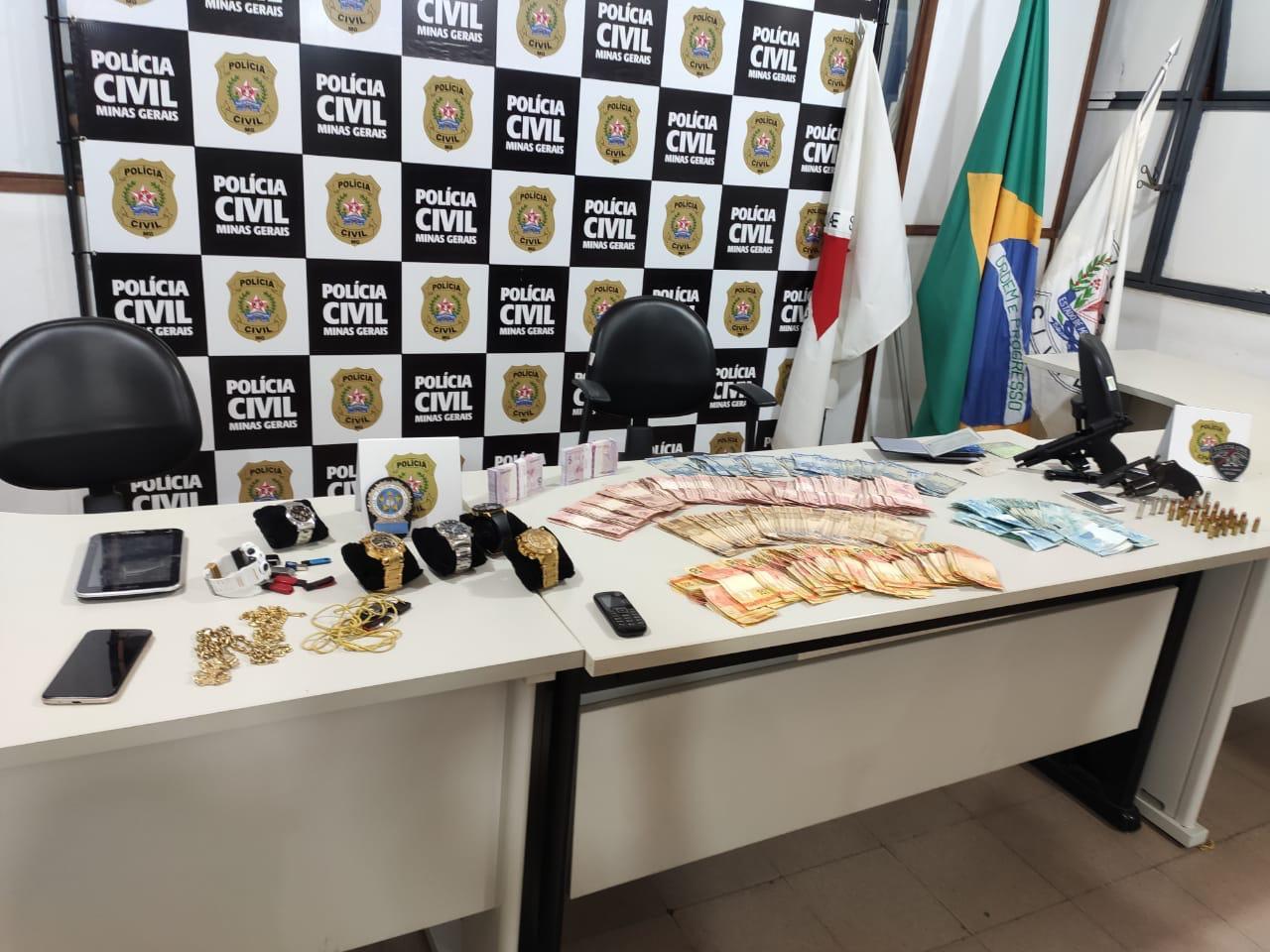 Polícia prendem suspeitos de roubo a banco em Juiz de Fora - Foto: Divulgação/PCMG
