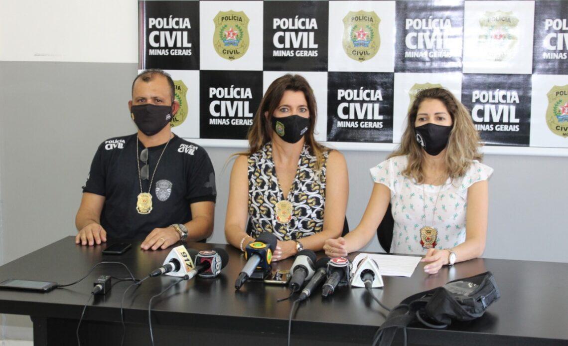 Delegada Adriana das Neves Rosa em coletiva para imprensa - Foto: Divulgação/PCMG