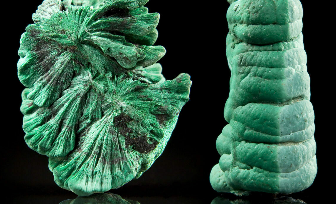 Mineral Malaquita - Crédito: Marcílio Grazinelli