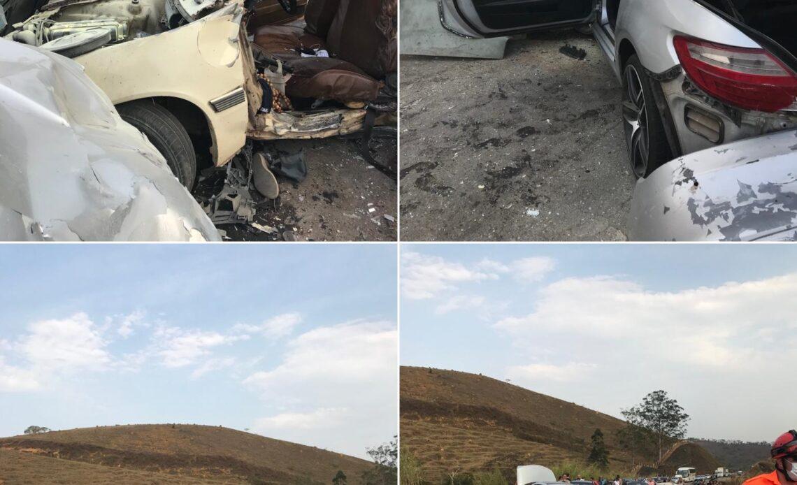 Três pessoas morrem em acidente na BR-267 entre Juiz de Fora e Bicas - Foto: Divulgação/Corpo de Bombeiros