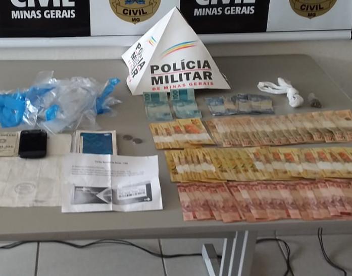 Polícia prende suspeito por tráfico de drogas em Andradas - Foto: Divulgação/PCMG