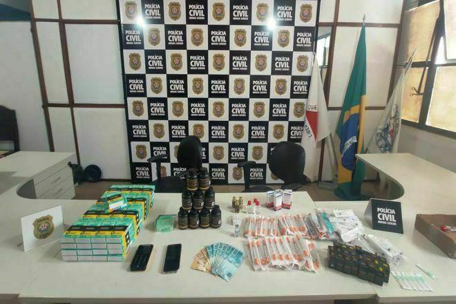 Polícia apreende anabolizantes e prende suspeito em Juiz de Fora - Foto: Divulgação/PCMG