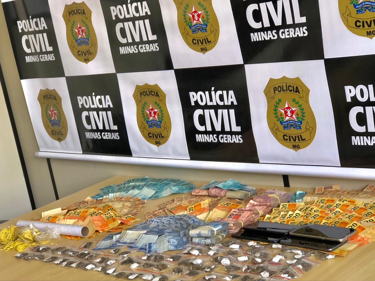 Polícia prende dez suspeitos de tráfico de drogas em Poços de Caldas - Foto: Divulgação/PCMG