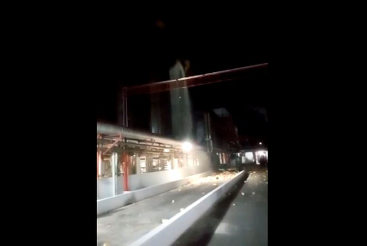 Explosão em tanque de cerveja da Ambev assusta moradores, em Juatuba - Foto: Reprodução