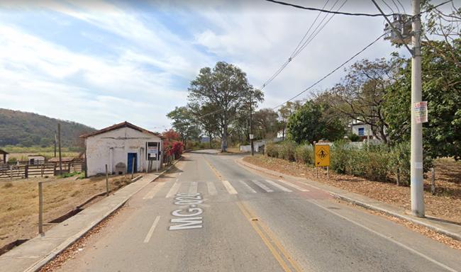 Criança de cinco anos morre em acidente na MG-020, em Jaboticatubas - Foto: Reprodução/Google Street View