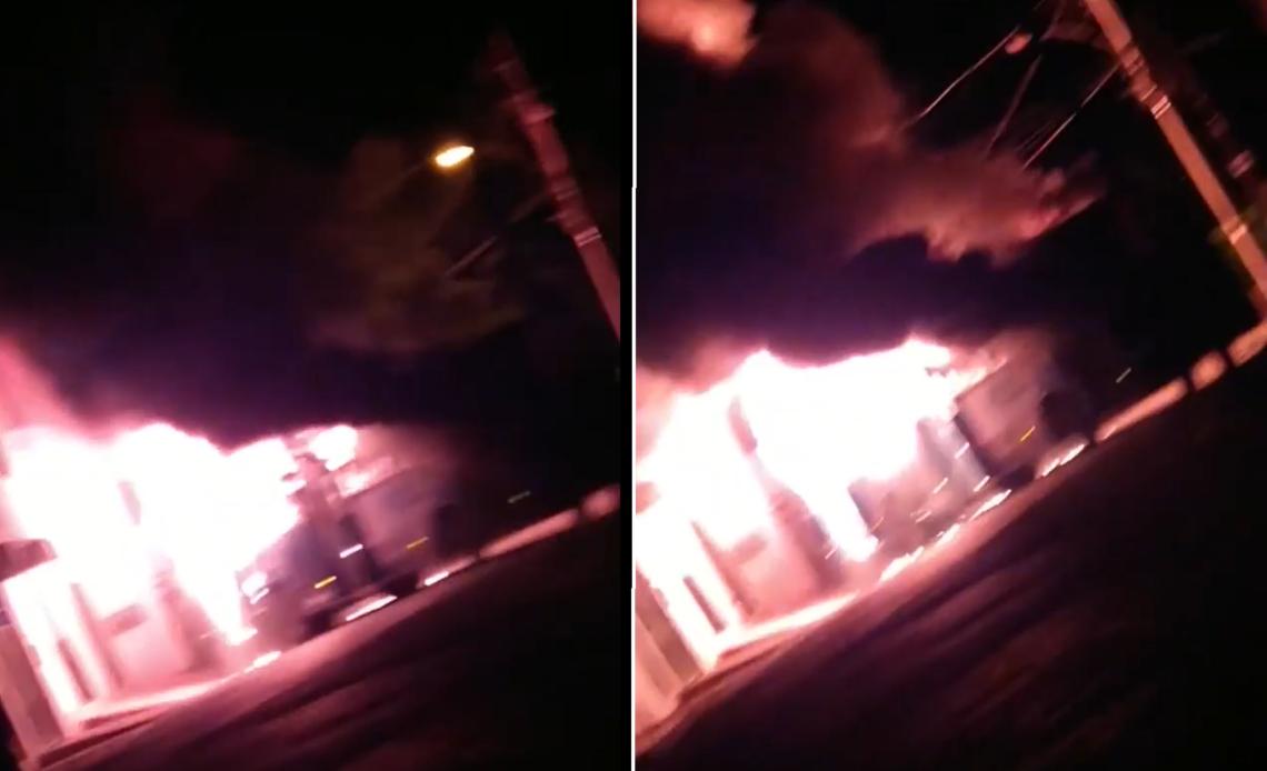 Criminosos incendeiam ônibus em Ribeirão das Neves - Foto: Reprodução/Redes Sociais