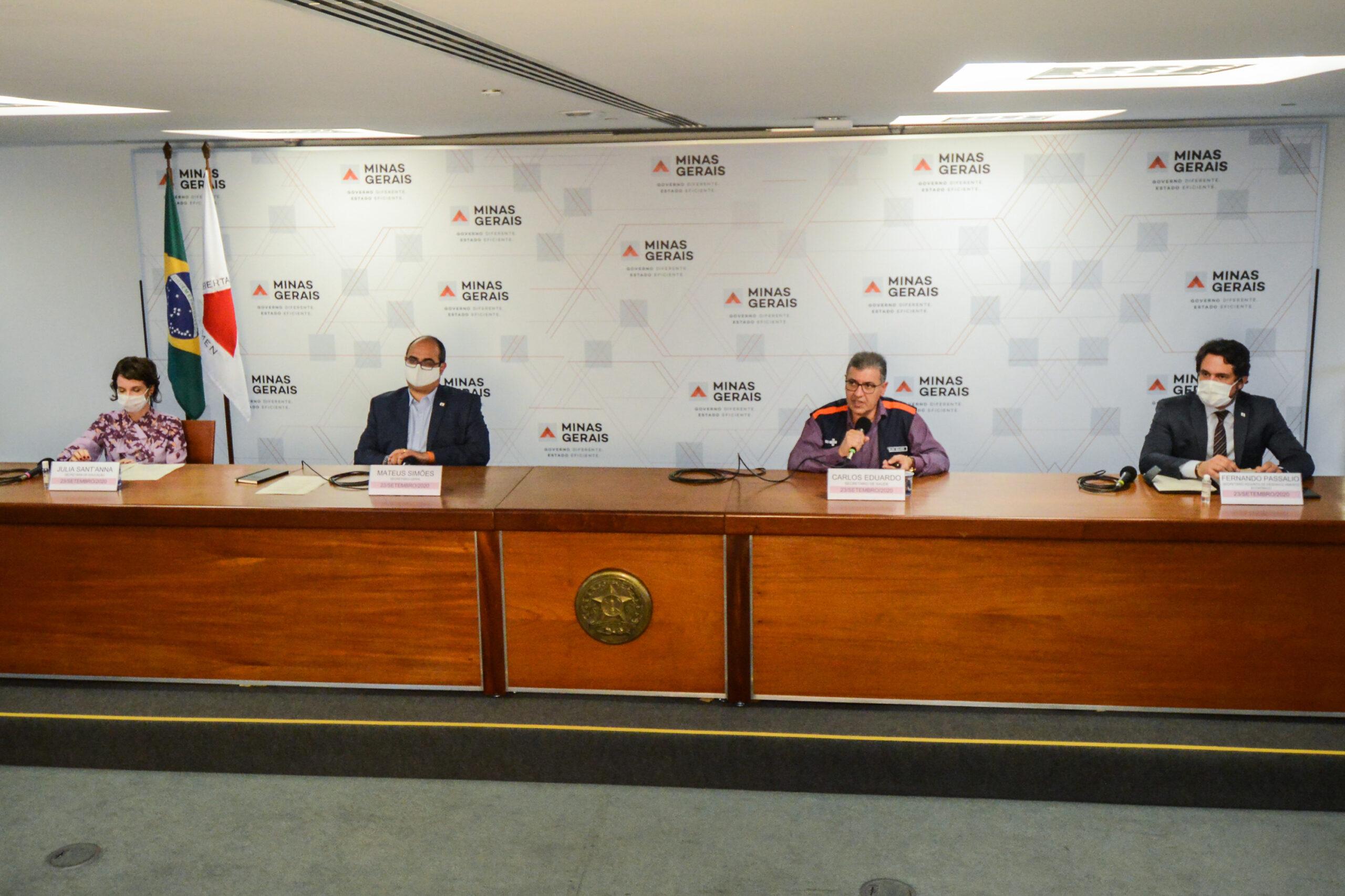Governo anuncia início do retorno das atividades escolares presenciais - Foto: Pedro Gontijo/Imprensa MG