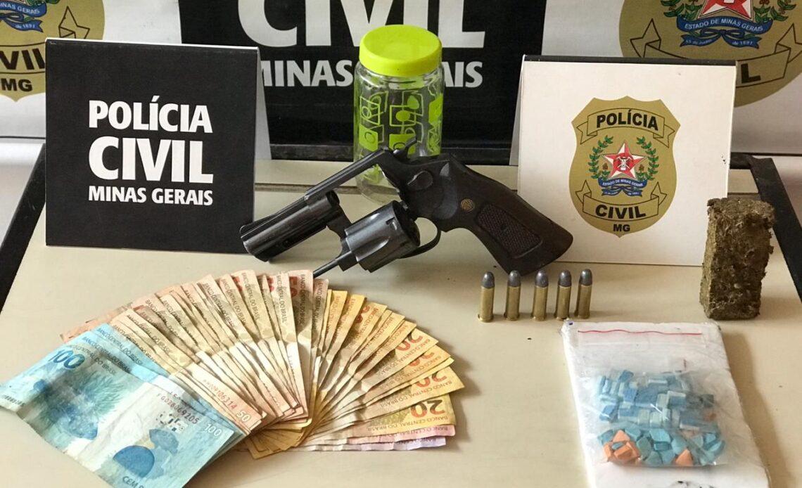 Polícia Civil prende suspeito de tráfico de drogas em Itabira - Foto: Divulgação/PCMG