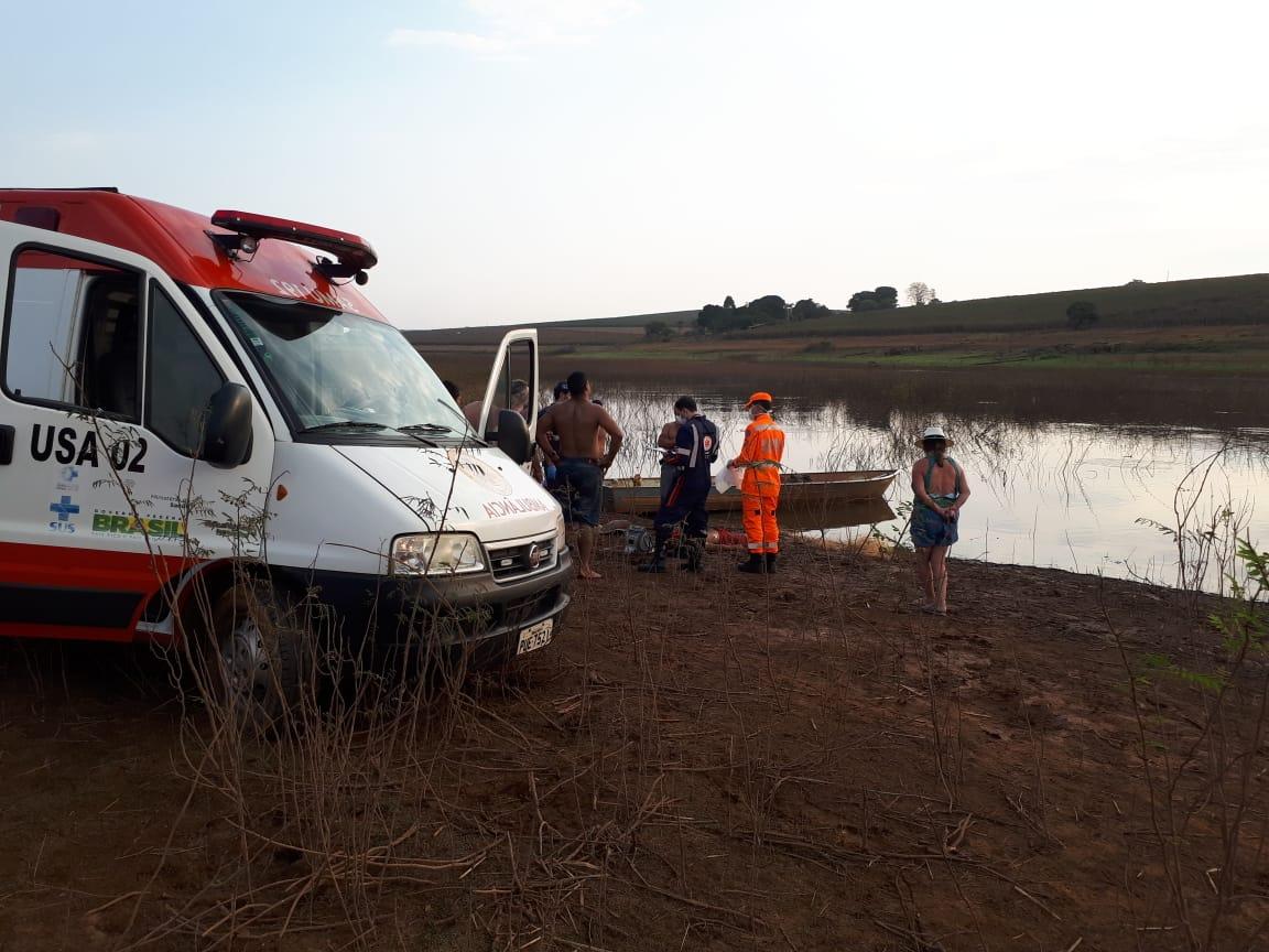Homem morre afogado em represa de Furnas na Zona Rural de Alfenas - Foto: Divulgação/CBMMG