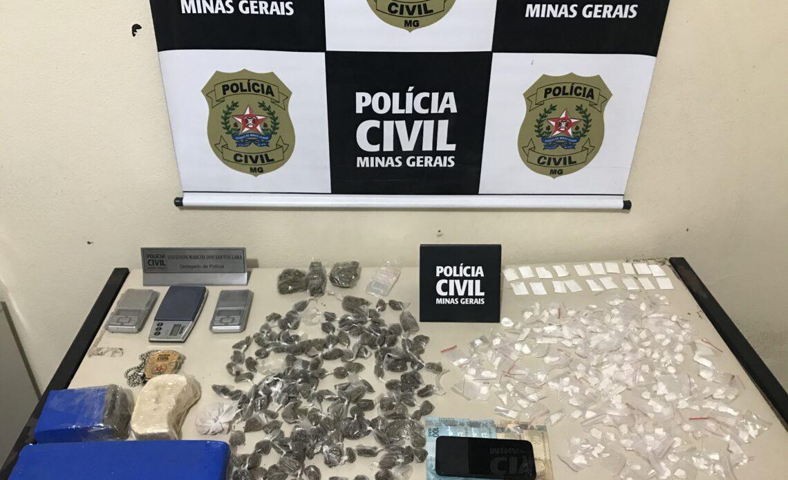Polícia prende gerente do tráfico e apreende drogas em Nova Serrana - Foto: Divulgação/PCMG