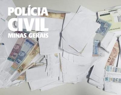 Funcionário é suspeito de furtar quase 60 mil de empresa em Cristais - Foto: Divulgação/PCMG