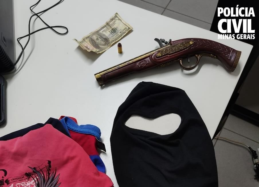 Casal suspeito de roubos é preso em Uberlândia - Foto: Divulgação/PCMG