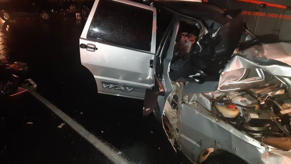 Três pessoas morrem em acidente na BR-262, em Campos Altos - Foto: Polícia Rodoviária Federal/Divulgação