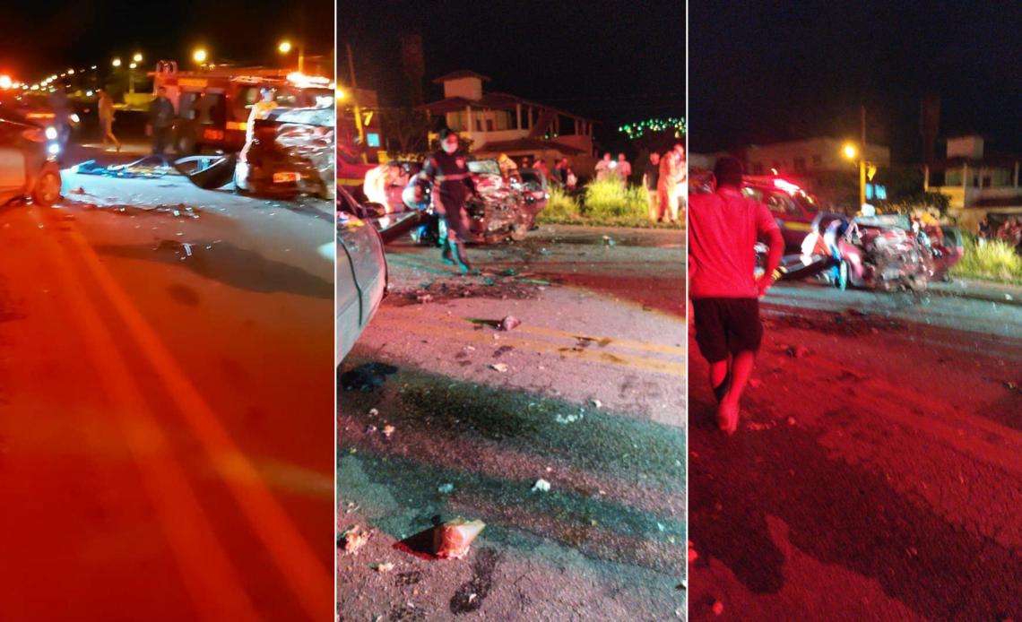 Três pessoas morrem em acidente entre dois carros na BR-352, em Pará de Minas - Foto: Reprodução/Redes Sociais