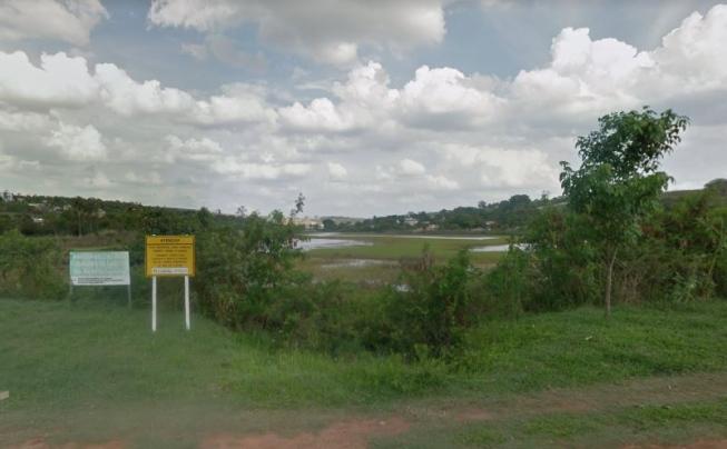 Colombiano morre afogado em lagoa de Confins, na Grande BH - Foto: Reprodução/Google Street View