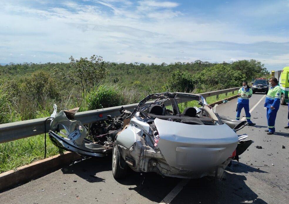 Cinco pessoas morrem em grave acidente na BR-135, em Montes Claros - Foto: Divulgação/Polícia Militar Rodoviária
