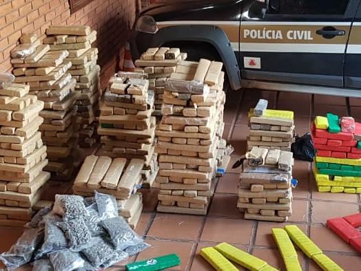 Polícia apreende 600 quilos de maconha em operação em Uberlândia - Foto: Divulgação/PCMG
