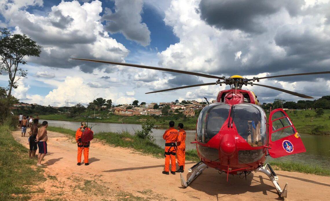 Jovem de 19 anos morre afogado na Lagoa da Ilha, em Esmeraldas - Foto: Divulgação/Corpo de Bombeiros