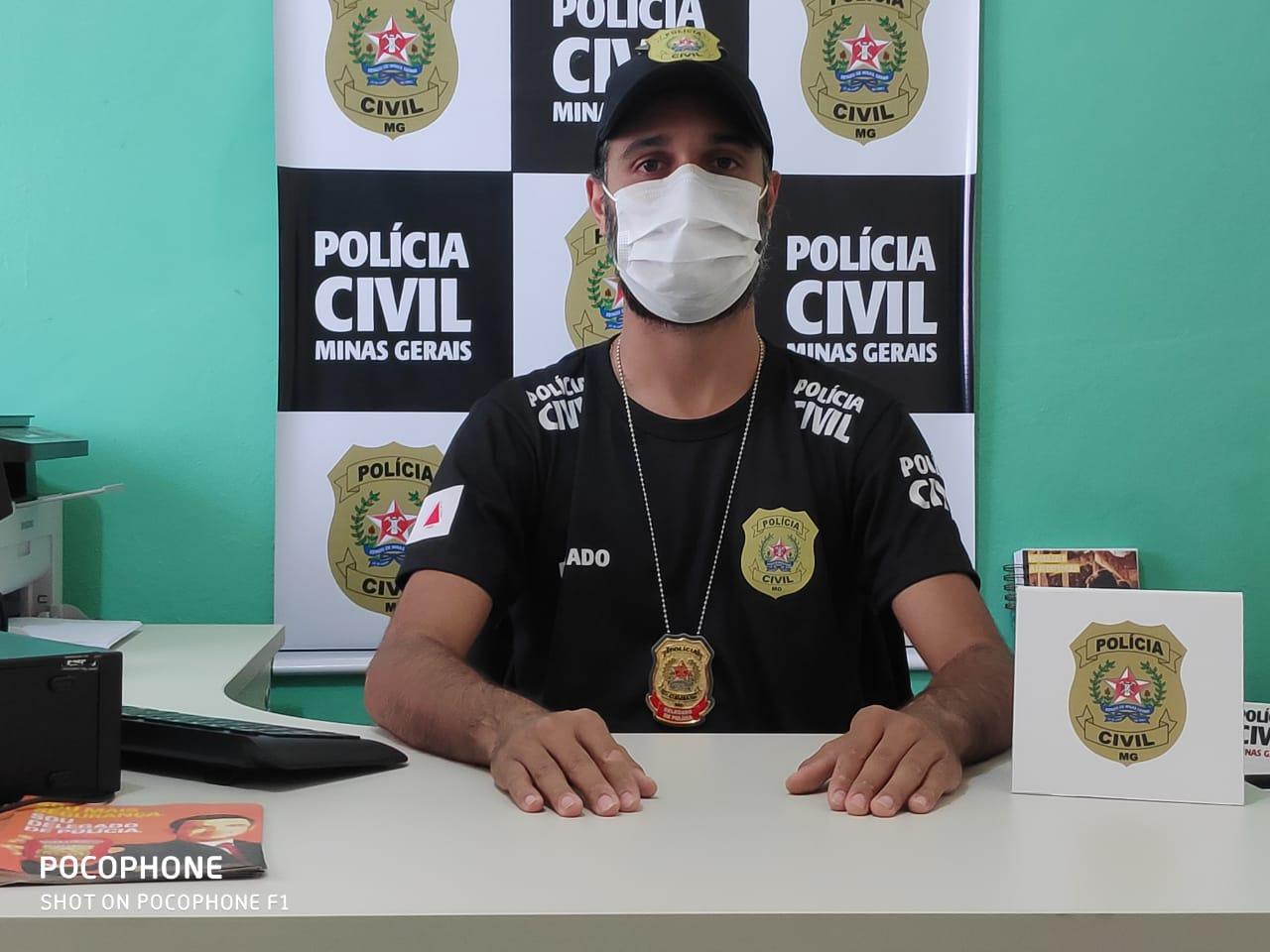 Delegado Thiago Carvalho responsável pelo caso - Foto: Divulgação/PCMG