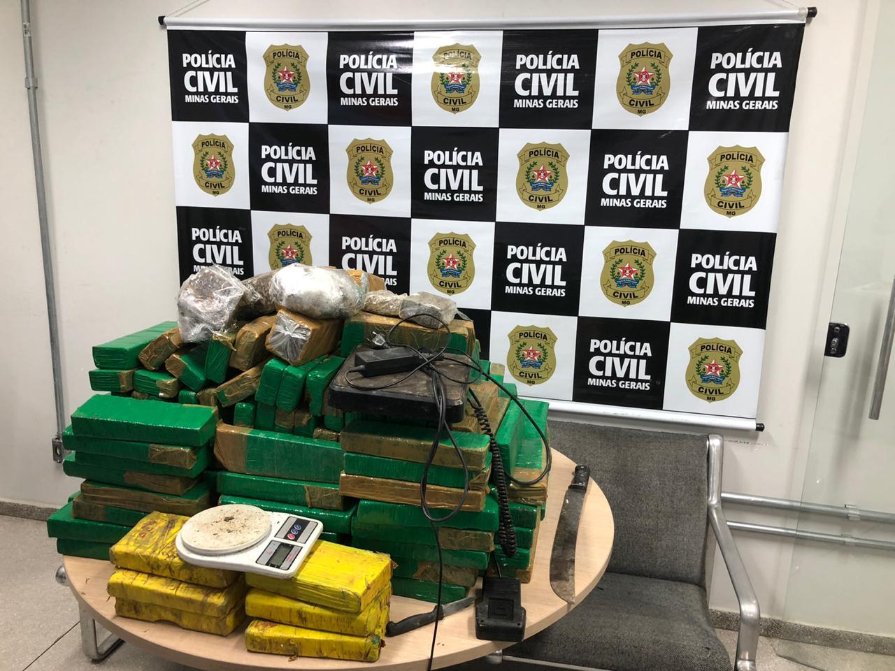 Polícia prende suspeito e apreende mais de 155 quilos de drogas em BH - Foto: Divulgação/PCMG