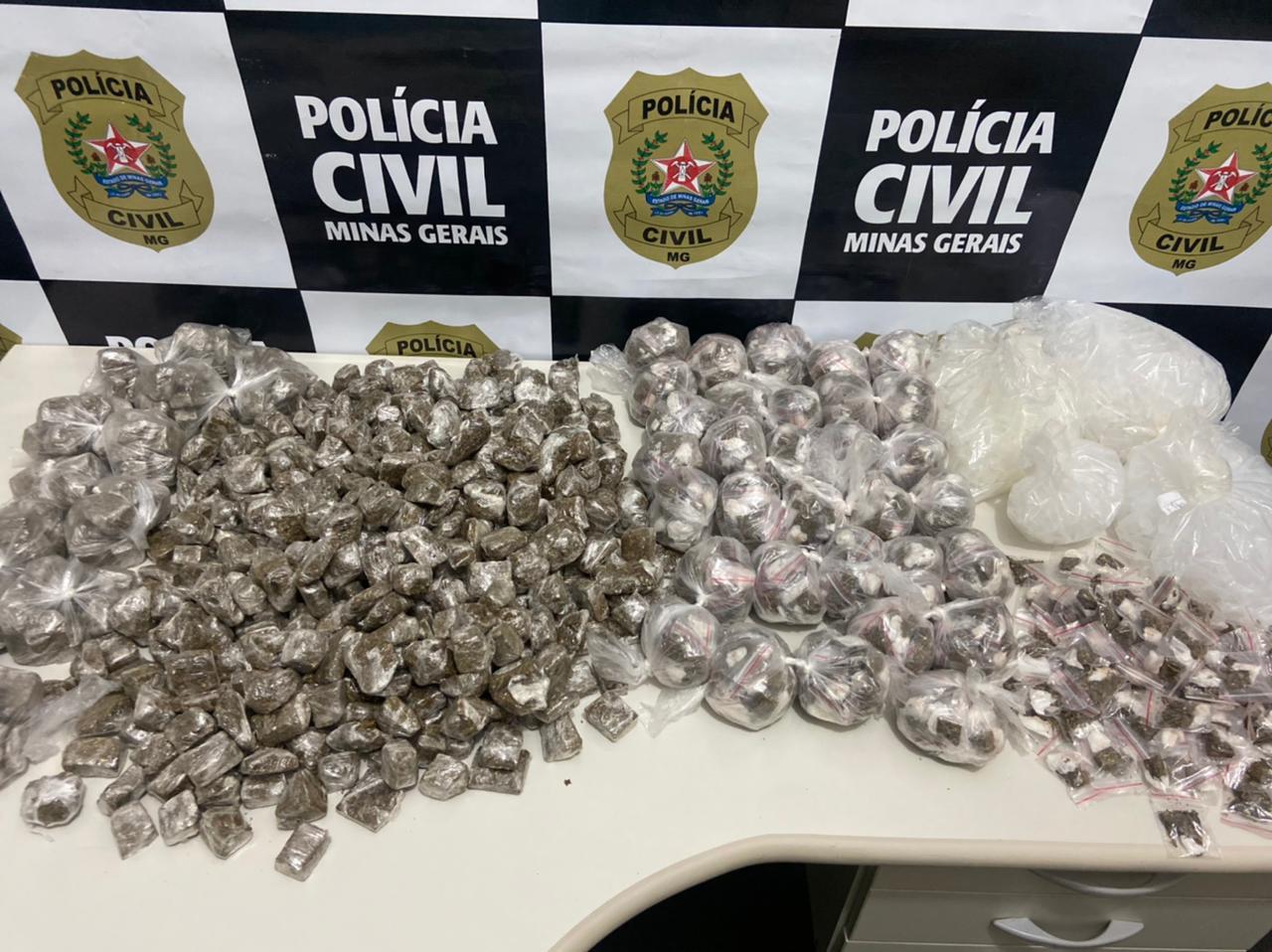 Polícia apreende vasta quantidade de maconha na região do Barreiro - Foto: Divulgação/PCMG