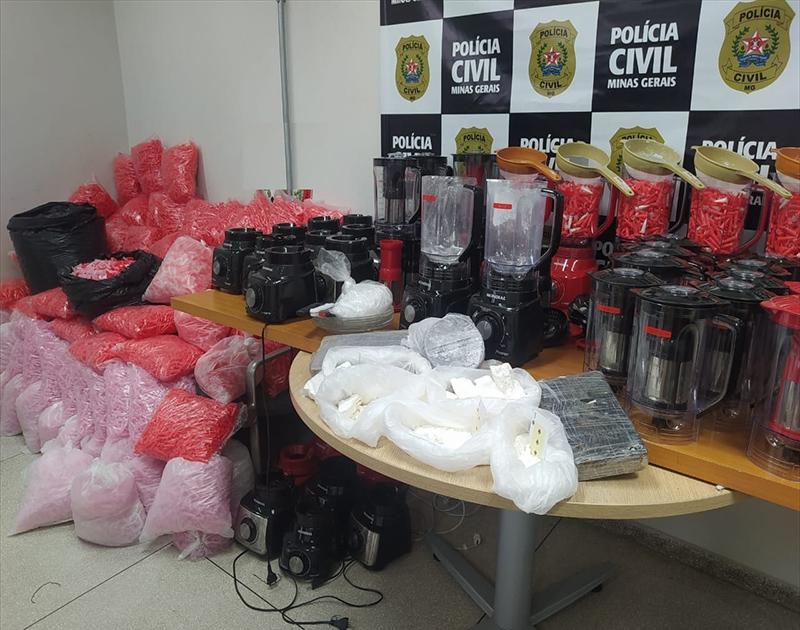 Polícia prende sete pessoas e apreende grande quantidade de cocaína em BH - Foto: Divulgação/PCMG