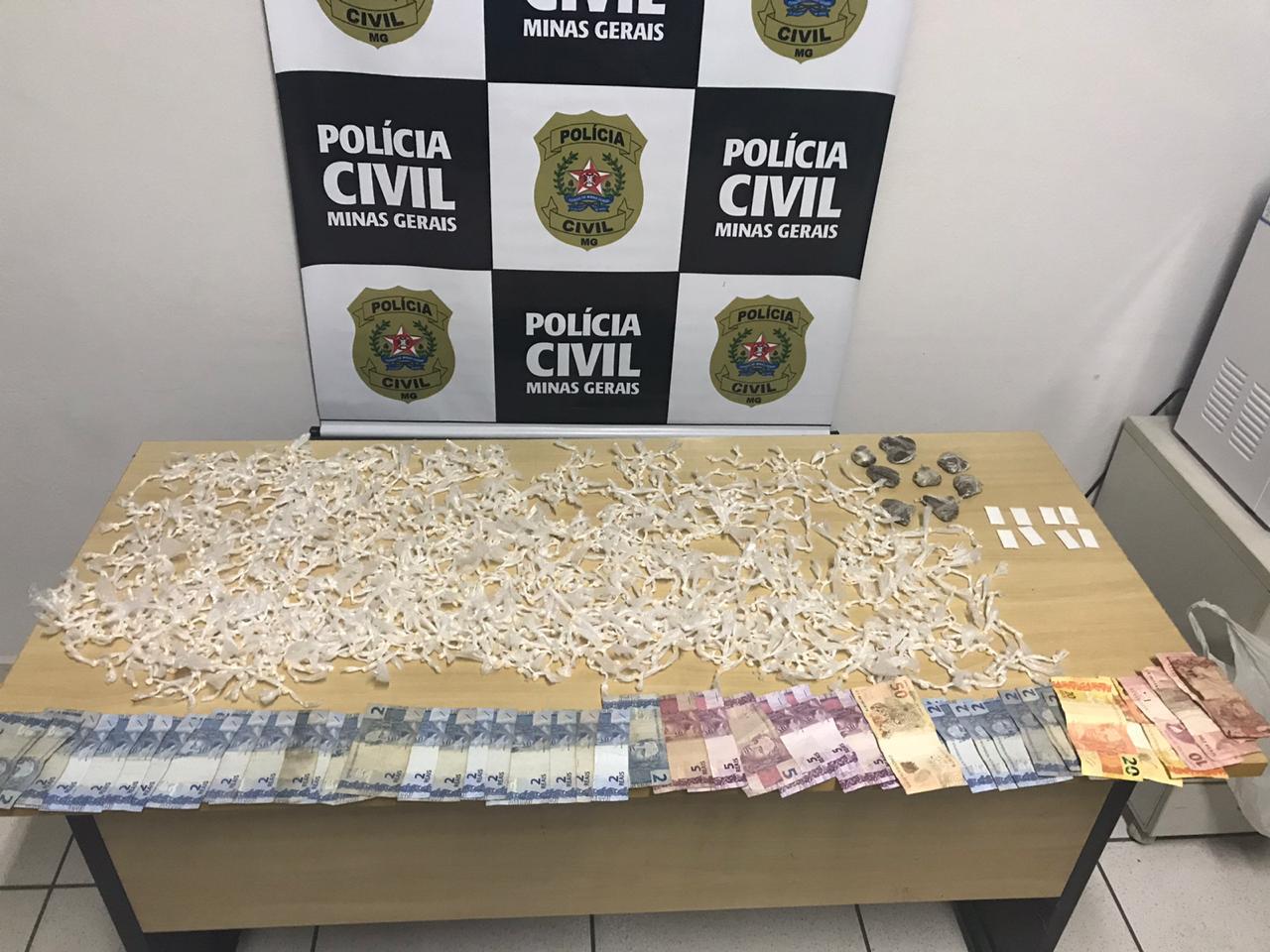 Polícia prende suspeito de tráfico de drogas em Nova Serrana - Foto: Divulgação/PCMG
