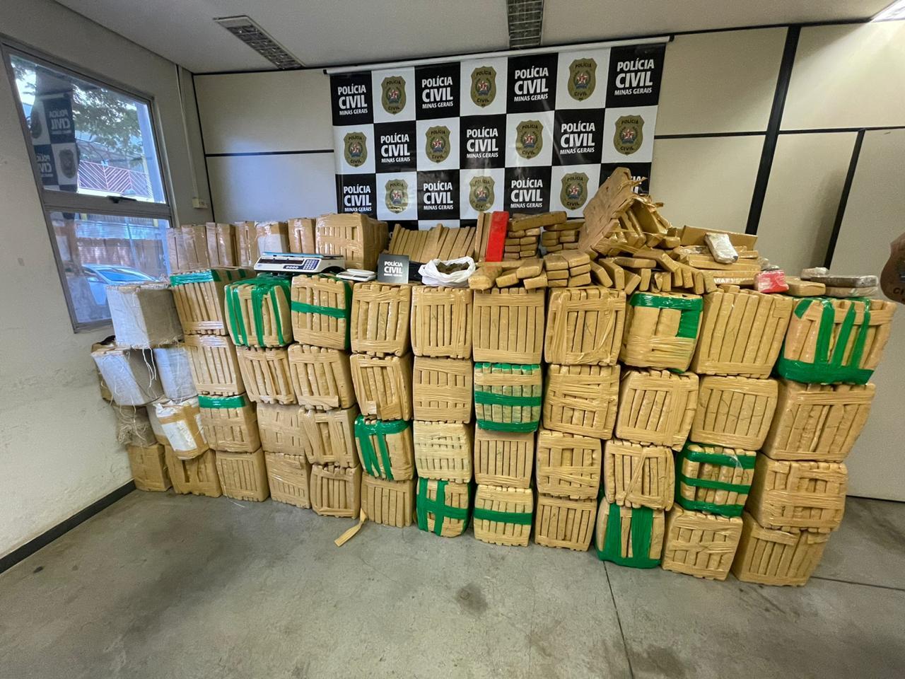 Três toneladas de maconha são apreendidos em Sabará - Foto: Divulgação/PCMG