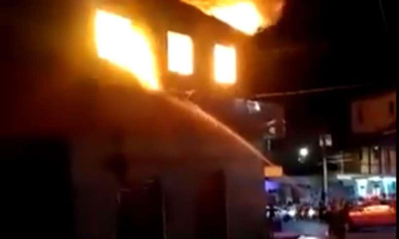 Incêndio atinge supermercado no bairro Novo Aarão Reis, na Região Norte de Belo Horizonte - Foto: Reprodução